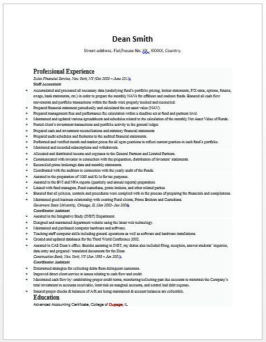93 best JOB images on Pinterest Cv template, Finance and Resume - senior accountant resume sample