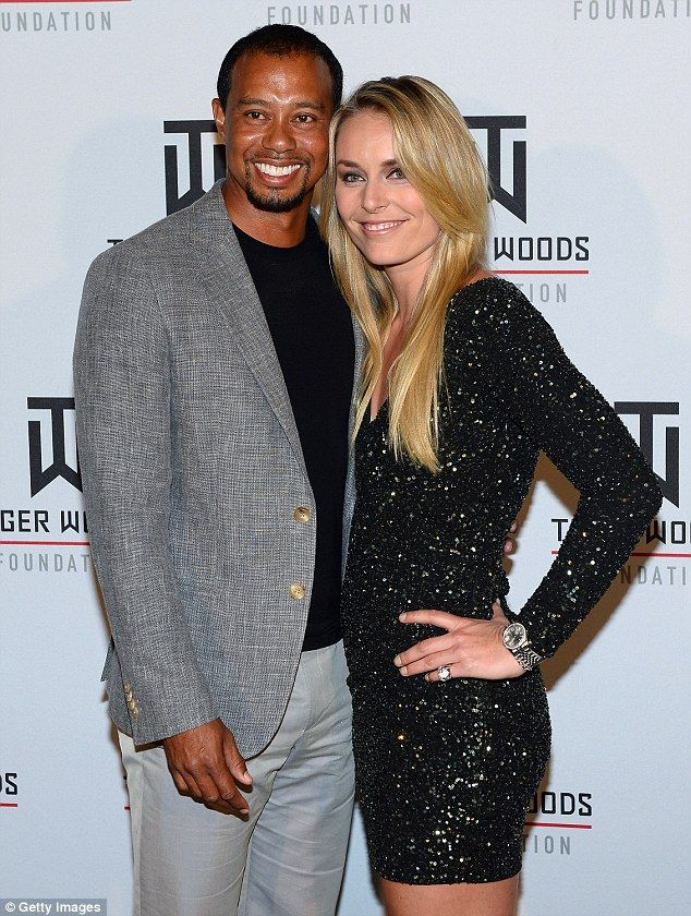 Love split: Lindsey dated Tiger for three years before they splint in May 2015...