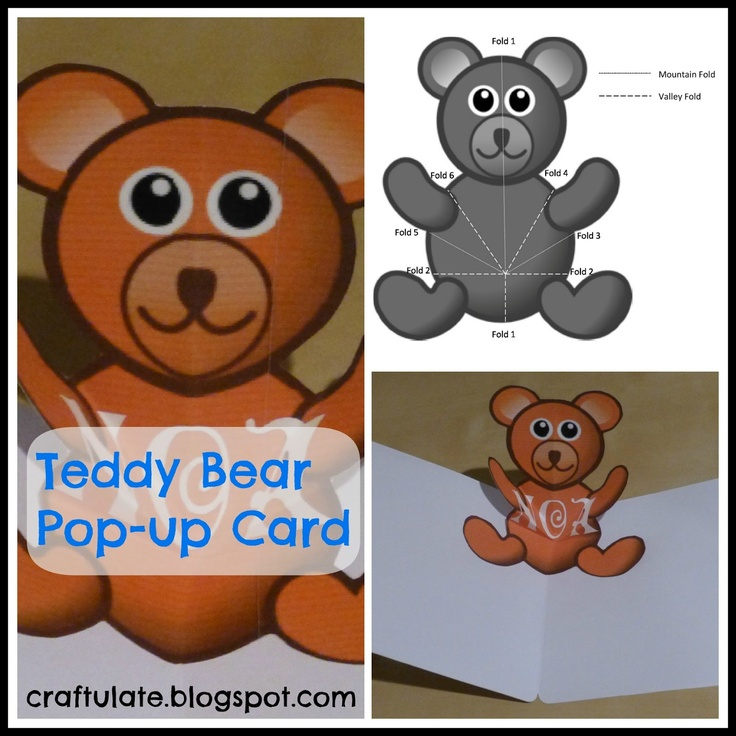 Pop Up Bear : Best images about card pop up on pinterest