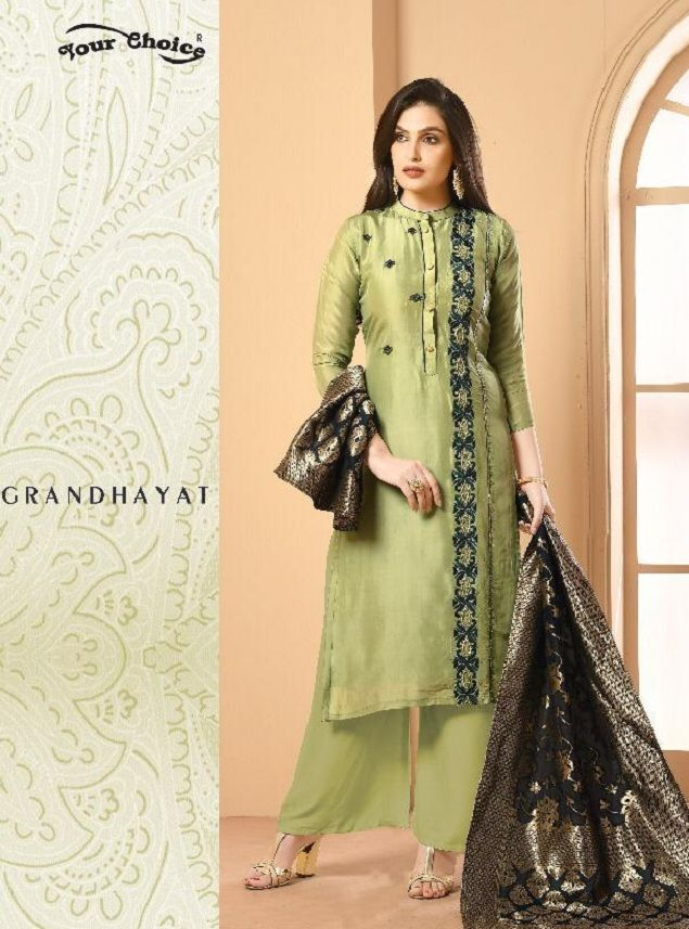 a154f01630 Your Choice Banarsi 1 Satin Georgette with Banarsi Dupatta Salwar Suit 3062
