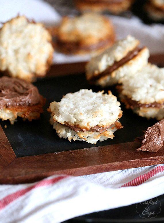 Coconut Macaroon Cookie Sandwiches