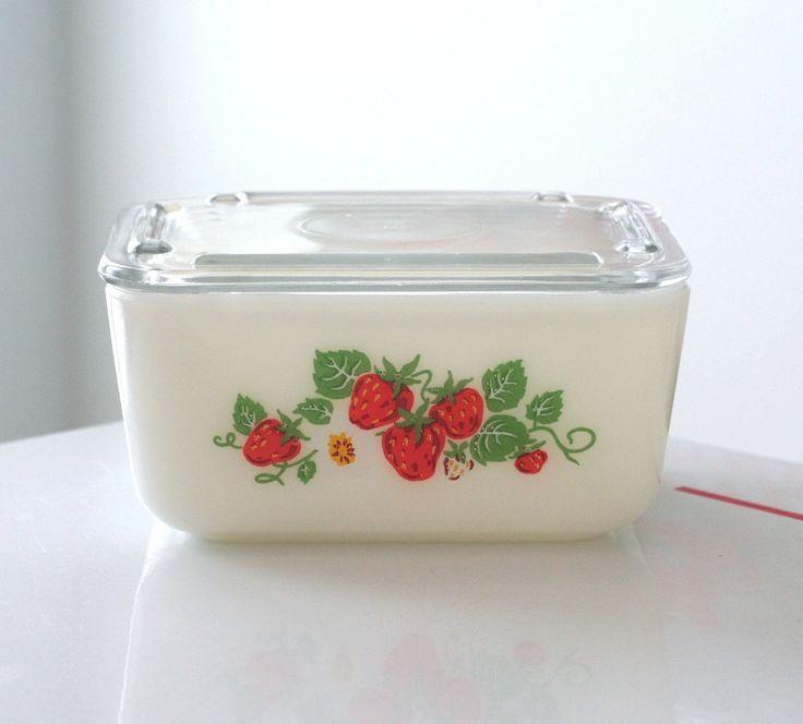 McKee Strawberry Small Refrigerator Dish. $85.00, via Etsy.