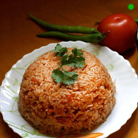 Tomato Rice Recipe - #RecipesWithRice
