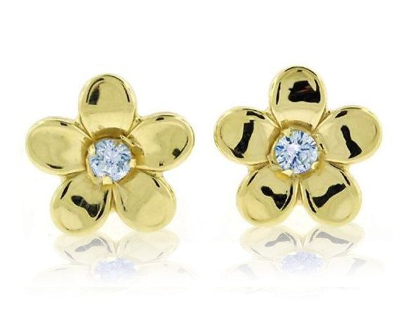 Blue Diamond Club - 9ct White and Yellow Gold Filled Small 10mm Penguin Stud Earrings Kids Girls Childrens 6qIhScOJ