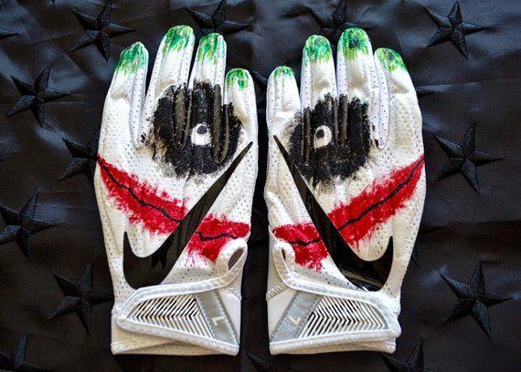 Joker Nike Football Gloves Etsy Football Gloves Custom Football Gloves Nike Football