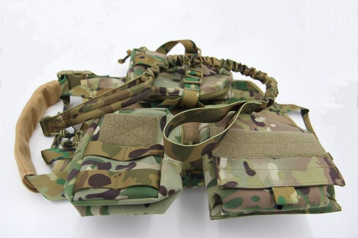 Taousa 70282 Tactical Dog Training Molle Vest Harness with Detachable Pouches   Military Tactical Dog Leash Multi-cam, Size M -- Be sure to check out this awesome product.