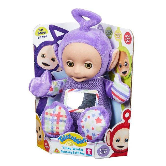 Teletubbies Nursery Tinky Winky Sensory Soft Toy ...