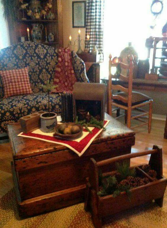 Like the trunk loveseat too busy find this pin and more on primitive farmhouse decor