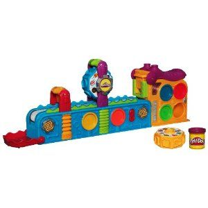Play-Doh Mega Fun Factory by Play-Doh. $33.49. Conveyor belt set comes with two gears with 15+ molds, playmat and four three-ounce cans of Play-Doh modeling compound. Colorful multi-pack of Play-Doh modeling compound. You can store up to 6 cans of Play-Doh modeling compound right in the set so they're all ready for the next time you turn it on. Set can store up to six cans of Play-Doh modeling compound. Super-fun moving conveyer belt set lets you stamp out tons...