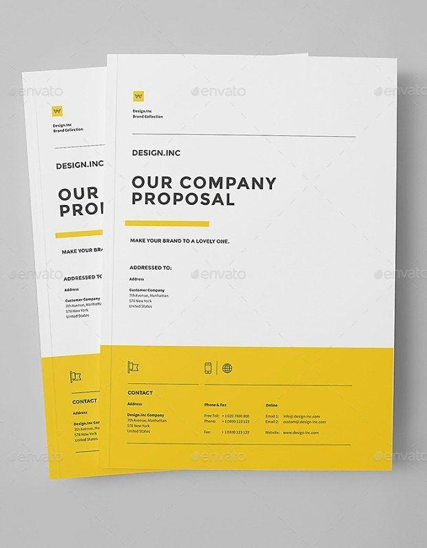 Company Portfolio Template Adorable 32 Pages Business Proposal & Portfolio Template Indesign #proposal .