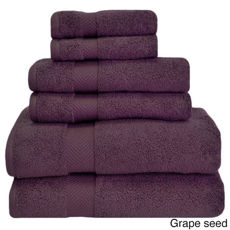 6 Piece Purple Towel Set Bath Hand Wash Towels New Free Shipping