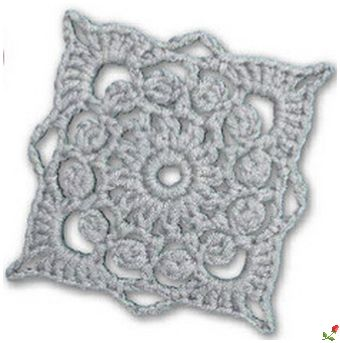 lovely crochet granny! - with very clear diagram!