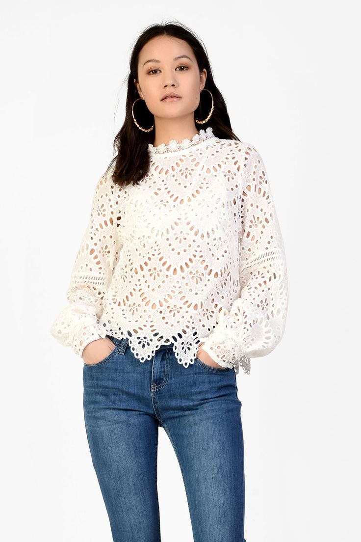 L2017 http://www.topshop.com/en/tsuk/product/clothing-427/shirts-blouses-4650801/broderie-anglaise-blouse-by-glamorous-6776247?bi=240