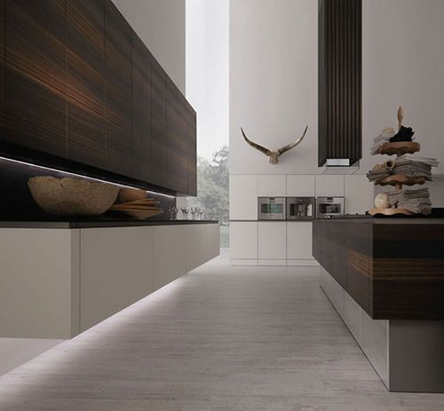 These modern German kitchen designs by Rational look earthy, well-worn and functional, putting all your essentials right at your fingertips.
