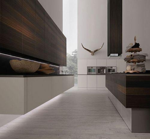 Modern kitchen. Wood.