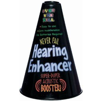 "Over the Hill Hearing Enhancer, 10"""" x 6"""" 