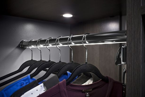 The H 228 Fele Loox 12v Led Closet Wardrobe Clothes Rail Has