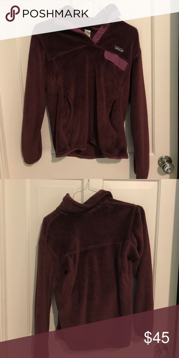 Women's Patagonia pullover Plum colored Patagonia pullover, great condition Patagonia Jackets & Coats