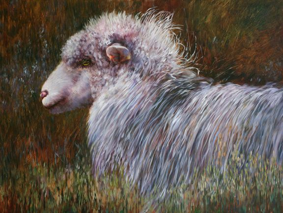 "Soon Y. Warren, Bad Hair Day, 18"" x 24"", Oil on Board"