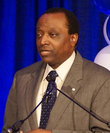 Alan Lee Keyes (born August 7, 1950) is an American conservative political activist, author, former diplomat, and perennial candidate for public office.[1][2] A doctoral graduate of Harvard University, Keyes began his diplomatic career in the U.S. Foreign Service in 1979 at the United States consulate in Bombay, India, and later in the American embassy in Zimbabwe.