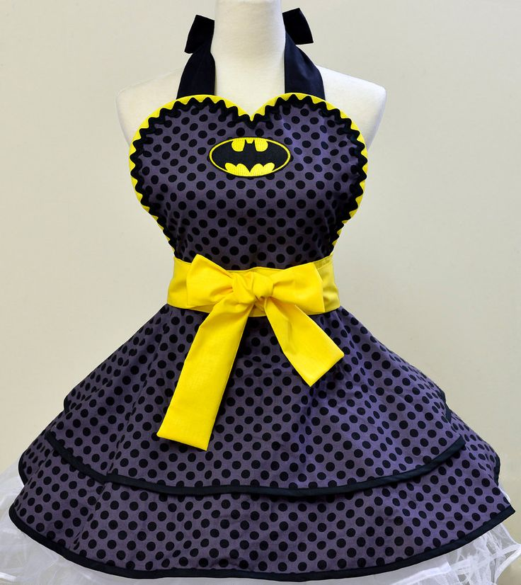 Made to Order- Batman Apron. $73.00, via Etsy @Brittany Horton Horton Horton Horton Frederick - i'd buy this bug pink version