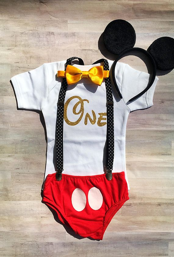 Mickey Mouse First Birthday Outfit / Mickey Mouse Shirt Boy /