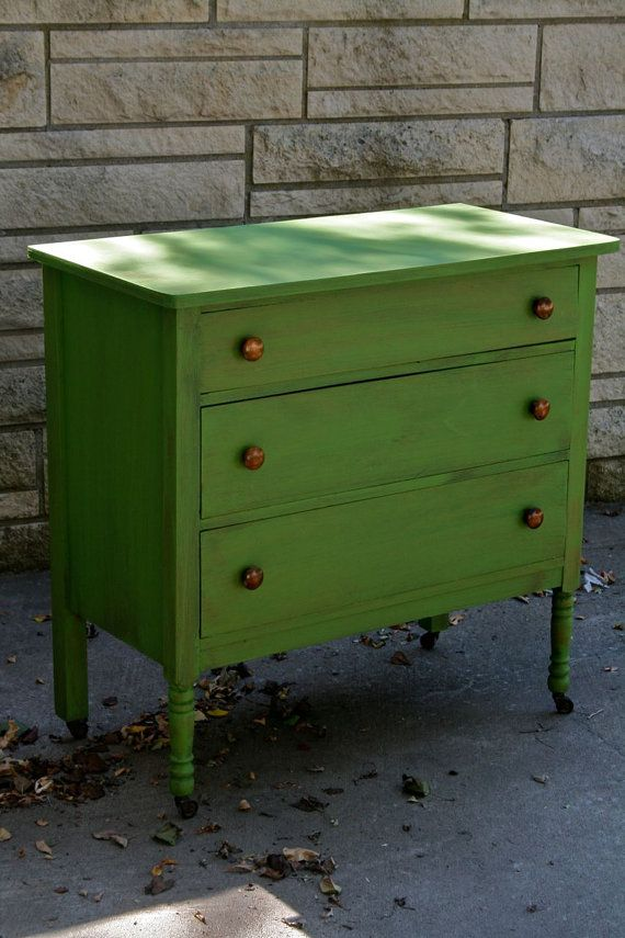 Green shabby chic chalk painted dresser by - Chalk paint comoda ...