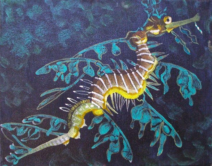 Brown and Aqua (Leafy Sea Dragon)