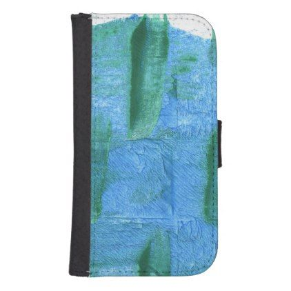 Blue Jeans abstract watercolor Wallet Phone Case For Samsung Galaxy S4 - image gifts your image here cyo personalize