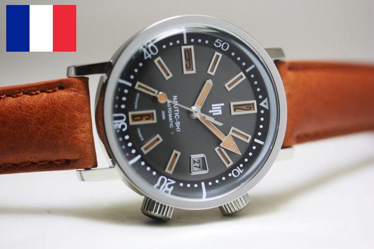 1967年の復刻!フランスのLIP【リップ】NAUTIC-SKI【ノーティックスキー】自動巻き腕時計/200m防水/正規代理店商品