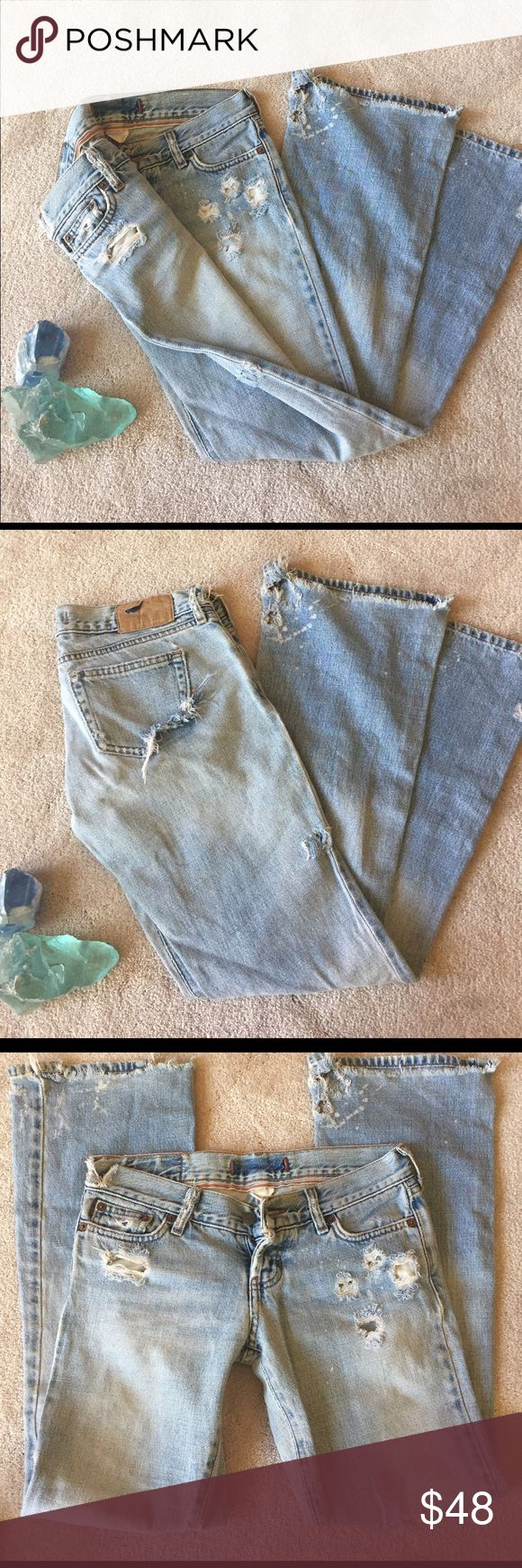 """Distressed Denim Relaxed Fit Boyfriend Jeans These are worn in all the right ways and only get better with age. Distressed, soft denim with an updated vintage look, a flattering button fly, and low rise. Looks great full length or rolled up. Petite fit: approx. 29.5"""" inseam, 15"""" waist (hip), 7"""" front rise. I'm typically a 25/0, give or take. Re/done or Reformation for exposure. Reformation Jeans Boyfriend"""