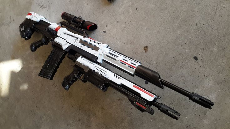 Mandalorian white Longshot / raider masterkey by AlTheGeek on Etsy