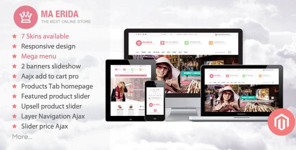 Shopping Erida - Responsive Magento ThemeIn our offer link above you will see