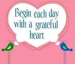 Grateful heart quote via Carol's Country Sunshine on Facebook