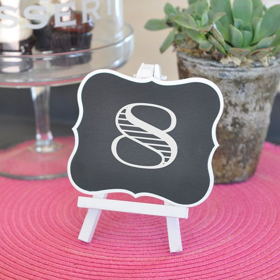 framed chalkboard table easels set of 12 by wedding place