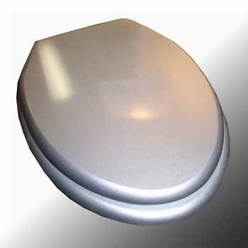#SilverToiletSeat MDF Fibers Brass :  #BathroomToiletSeat, Silver Toilet Seat. Printed MDF toilet seats: Made of densely engineered fibers this seat is designed for maximum strength & durability & easily outlasts all other MDF seats. Printed on all 3 sides this seat is always decorative when the lid is up or down! Made of sturdy polymer, the bumpers prevent rocking & keep the seat safely in place.