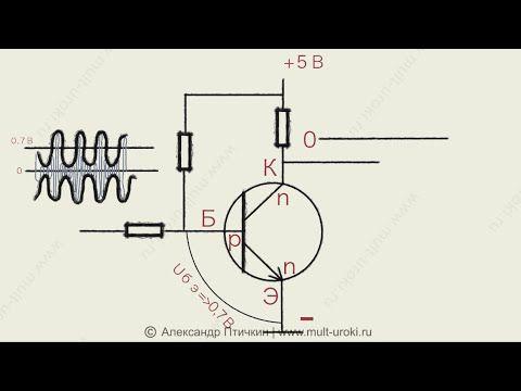 Урок 1 - Как работает транзистор? Режим ТТЛ логика / Усиление. Анимацион...