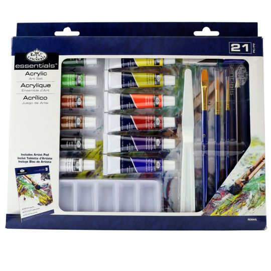 Royal langnickel essentials acrylic art set acrylic for Acrylic mural paint supplies