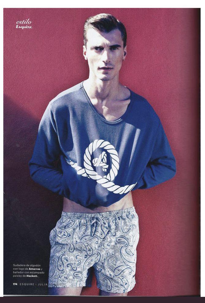 Clement Chabernaud con sudadera Amarras en la revista Esquire. #menswear #design #madeinspain #Madrid #Moda