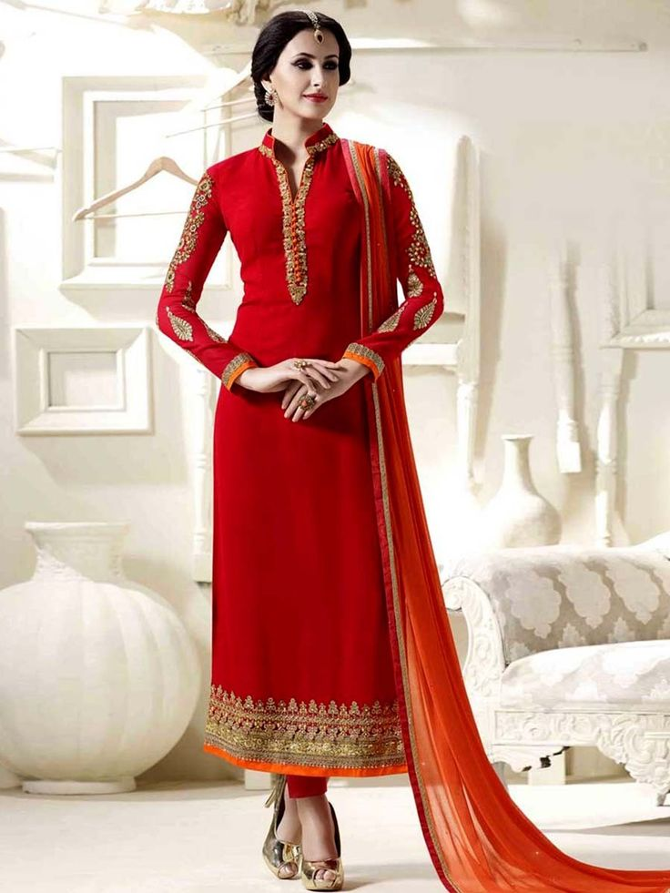 Get the opportunity to be the best with this amazing outfit. Item Code: SLANB14748 Shop more: https://www.bharatplaza.com/new-arrivals/salwar-kameez.html
