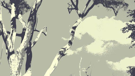 Solid Grey Eucalypt by BlackbirdArtDesign on Etsy, $35.00