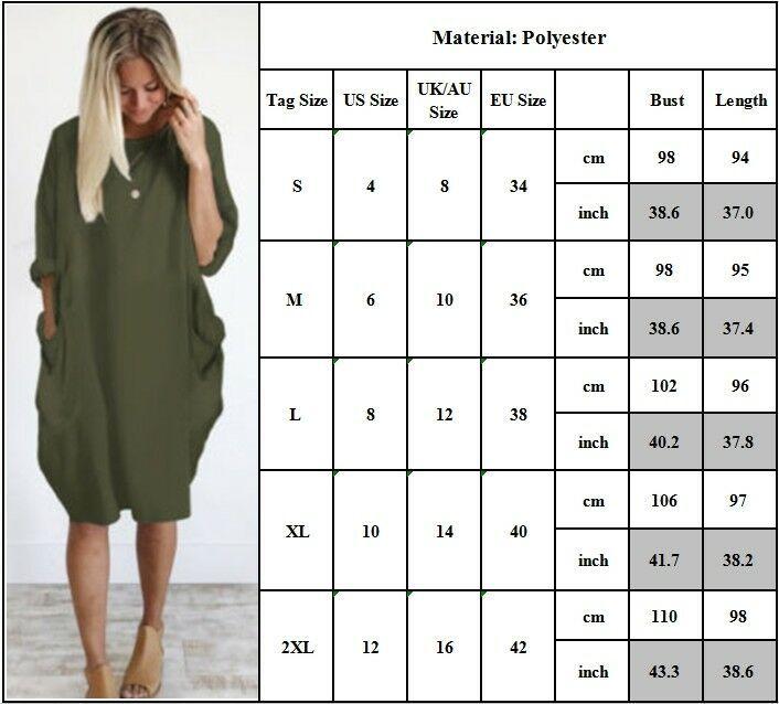 Women Summer Short Sleeve T Shirt Top Dress Loose Baggy Casual Tunic Midi Dress