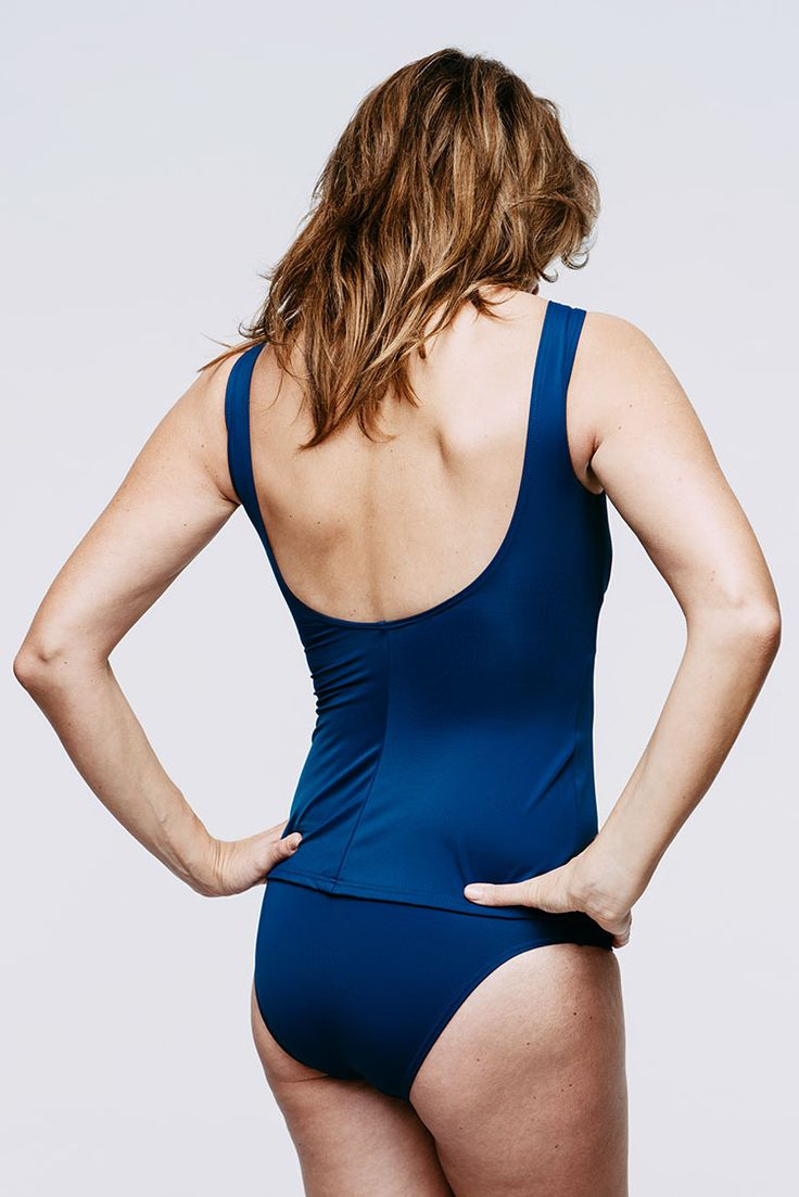 Lullebiegga Malla swimsuit, tank top with bikini bottoms (post-mastectomy swimwear, excellent in supporting a breast prosthesis or two)