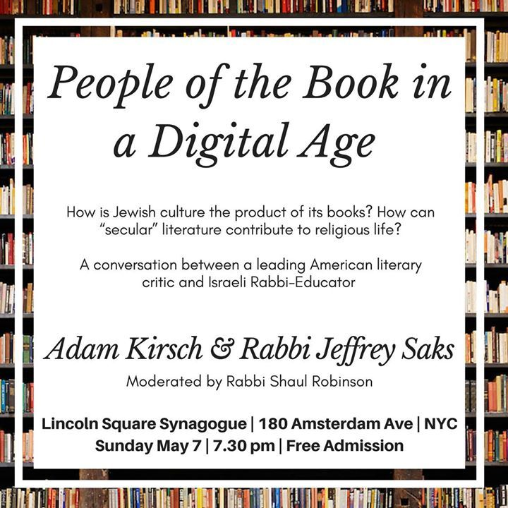 Tablet contributors Jeffrey Saks and Adam Kirsch will be speaking at Lincoln Square Synagogue in NYC on May 7 — don't miss it! #fashion #style #stylish #love #me #cute #photooftheday #nails #hair #beauty #beautiful #design #model #dress #shoes #heels #styles #outfit #purse #jewelry #shopping #glam #cheerfriends #bestfriends #cheer #friends #indianapolis #cheerleader #allstarcheer #cheercomp  #sale #shop #onlineshopping #dance #cheers #cheerislife #beautyproducts #hairgoals #pink #hotpink…