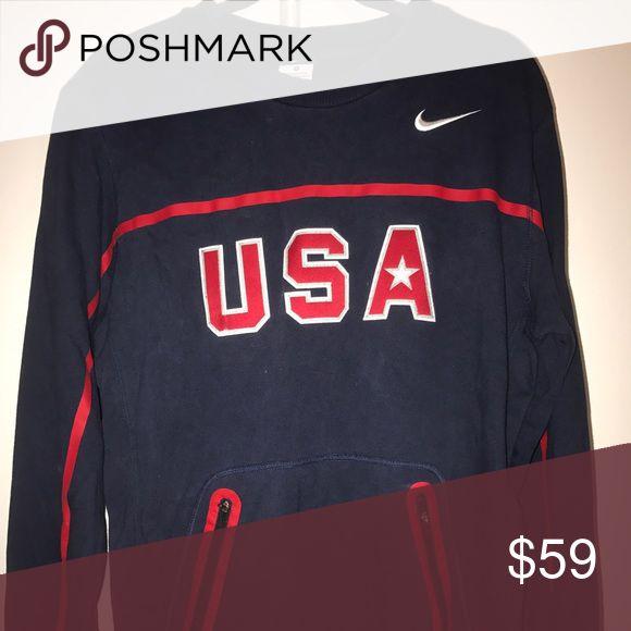 Nike Authentic USA basketball Crewneck Sweatshirt Nike Original, Authentic USA basketball Crewneck sweatshirt. Embroidered logo Nike Tops Sweatshirts & Hoodies