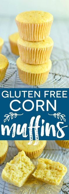 Easy Gluten Free Corn Muffins make the perfect breakfast or side for chili or bbq | Recipe from @whattheforkblog | gluten free and dairy free | whattheforkfoodblog.com