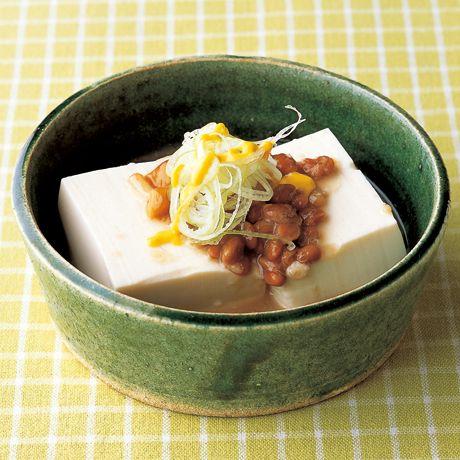 納豆なめこ温やっこ | 藤野嘉子さんのおつまみの料理レシピ | プロの簡単料理レシピはレタスクラブネット