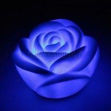 Väriä vaihtava ruusu yövalo