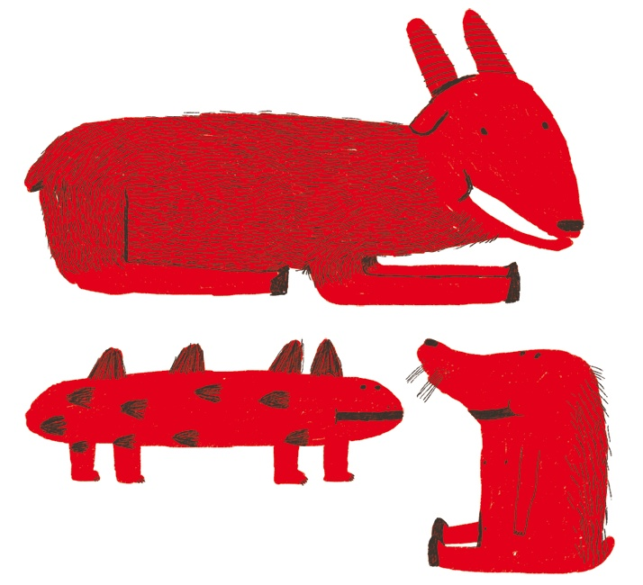 Red Animals by Antonio Ladrillo: Google Image, Art Crafts, Color Red, Art Inspiration, Animals Insects, Illustration, Red Dog