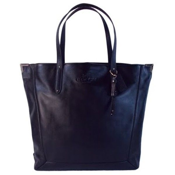 Pre-owned Black Leather Coach Jose Tote (780 BRL) ❤ liked on Polyvore featuring bags, handbags, tote bags, black, genuine leather handbags, genuine leather purse, real leather tote, coach tote bags and leather purses